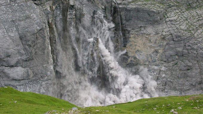 Manch ein herabstürzender Felsen hatte ein Volumen, das dem von zehn Einfamilienhäusern entspricht.