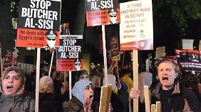 Proteste in London.