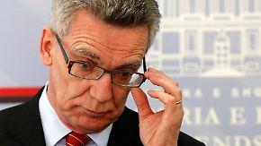 """Fehlender """"politischer Wille"""": De Maizière rügt Bundesländer für Abschiebepraxis"""