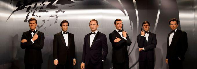 Eher nicht homosexuell: die verschiedenen Bond-Darsteller.