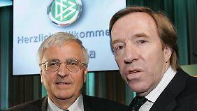 Wiedersehen vor Gericht: Theo Zwanziger (l.) und Günter Netzer.