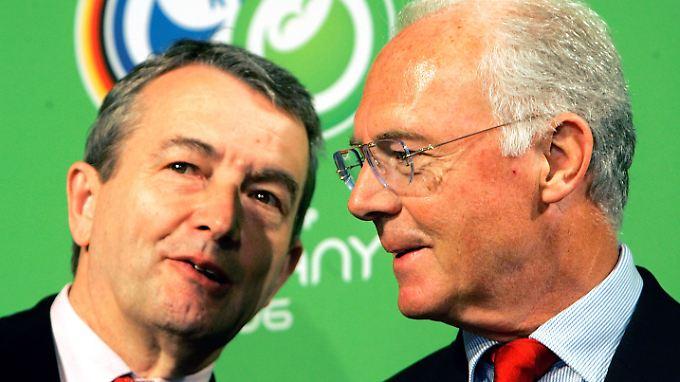 Wer wusste was? Und wann? Und überhaupt? Wolfgang Niersbach und Franz Beckenbauer.
