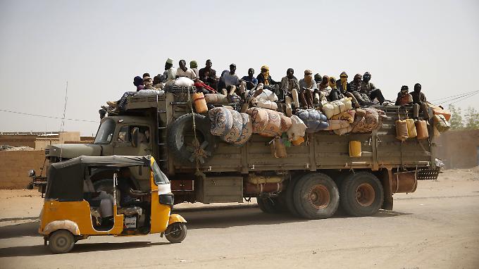 Flüchtlinge in Agadez.