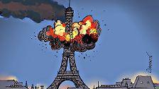 Diese vergleicht die Anschläge mit der Urkatastrophe des 21. Jahrhunderts - den Anschlägen auf das World Trade Center in New York am 11. September 2001.