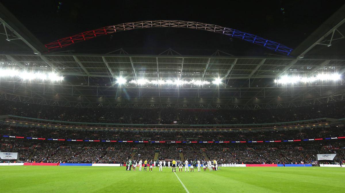 """""""Marseillaise"""" erschallt im Wembley-Stadion"""