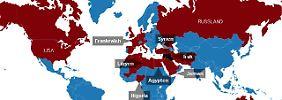 """Im Visier des """"Islamischen Staats"""": Die Weltkarte des IS-Terrors"""