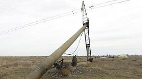 Ende November waren Stromleitungen auf die Krim gesprengt worden.