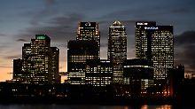 """Londoner Finanzdistrikt Canary Wharf: """"Geldwäsche ist eine strategische Bedrohung für die Wirtschaft Großbritanniens""""."""