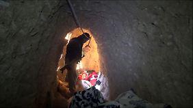In Sindschar entdeckte die kurdische Armee ein Tunnelsystem.