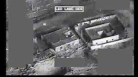 """Bild einer """"Reaper""""-Kamera während eines Einsatzes im Irak."""