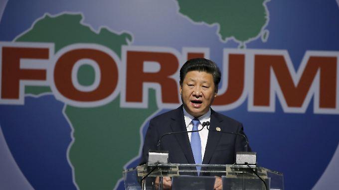 Der chinesische Präsident Xi Jinping während seiner Rede auf einem Forum für China-Africa Kooperation in Johannesburg.