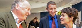 Spitzenpolitiker der AfD: Alexander Gauland, Björn Höcke und Frauke Petry.