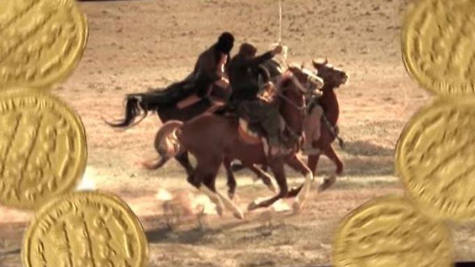 Zurück zum Goldstandard: Szene aus einem IS-Propaganda-Video.