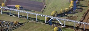 Beim Bau des Verkehrsprojekt Deutsche Einheit 8 sind ingenieurtechnische Meisterleistungen vollbracht worden.