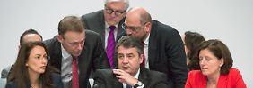 Nach Tiefschlag auf Parteitag: SPD-Spitze schart sich um Gabriel