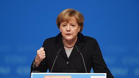 Applaus beim CDU-Parteitag: Merkel besänftigt interne Kritiker bei Flüchtlingsfrage