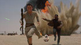 Rey und Finn sind auf der Flucht.