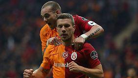 Wird Lukas Podolski Galatasaray Istanbul früher als geplant verlassen?