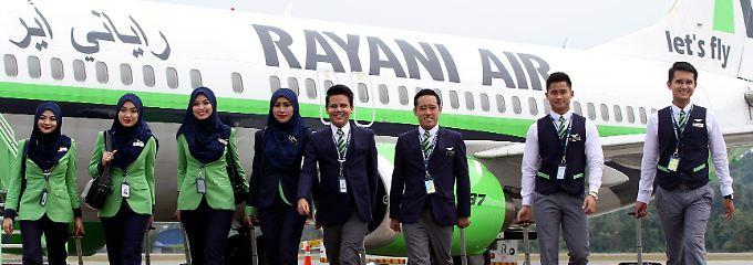 Bei Rayani Air können sich streng muslimische Kunden sicher fühlen.