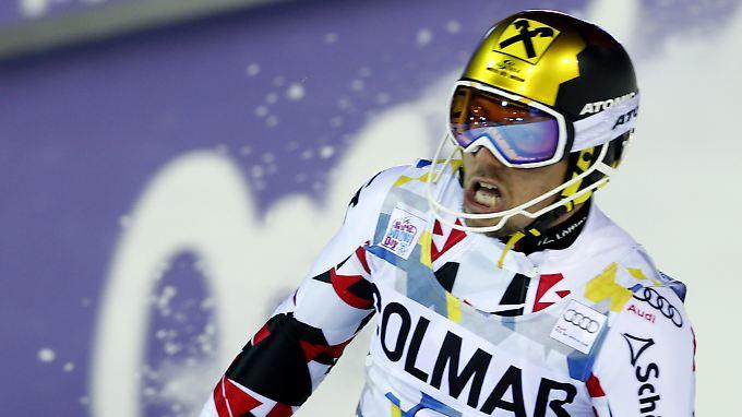 Hat im Parallelslalom von Stockholm richtig einen rausgeknallt: Slalom-Dominator Marcel Hirscher.