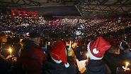 Rekord bei Weihnachtssingen: 28.500 Union-Fans trällern Weihnachtslieder