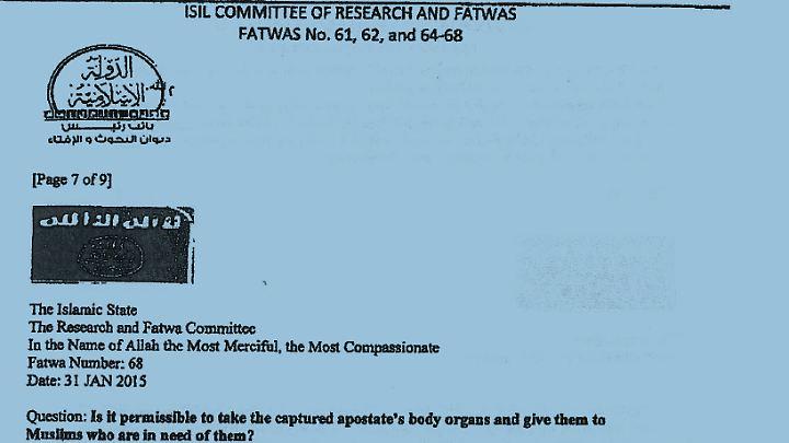 Die Fatwa Nummer 68 des IS.