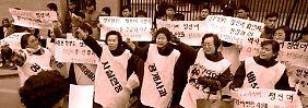 """Entschädigung für """"Trostfrauen"""": Japan entschuldigt sich für Sexsklaverei"""