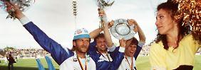 """Da guckste, wa? 1991 gelang mit dem Gewinn der Ost-Meisterschaft das """"Wunder von Rostock""""."""