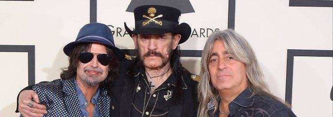 """Phillip """"Wizzö"""" Campbell, Ian """"Lemmy"""" Kilmister und Mikkey Dee (v.l.n.r.) waren ein eingespieltes Team bei Motörhead."""