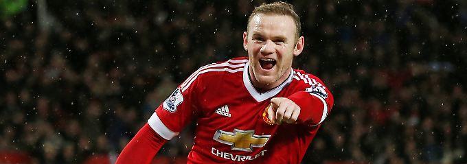 So sieht einer aus, der gerade ein Tor gegen einen Abstiegskandidaten erzielt hat: Wayne Rooney.