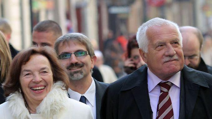 Vaclav Klaus (hier vor einigen Jahren mit seiner Frau) sieht die europäische Kultur in Gefahr.