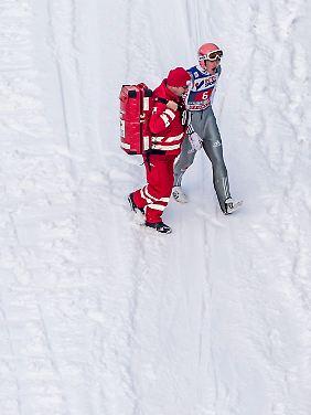Severin Freund ist nach seinem Sturz in Innsbruck körperlich noch nicht wieder in Topform.