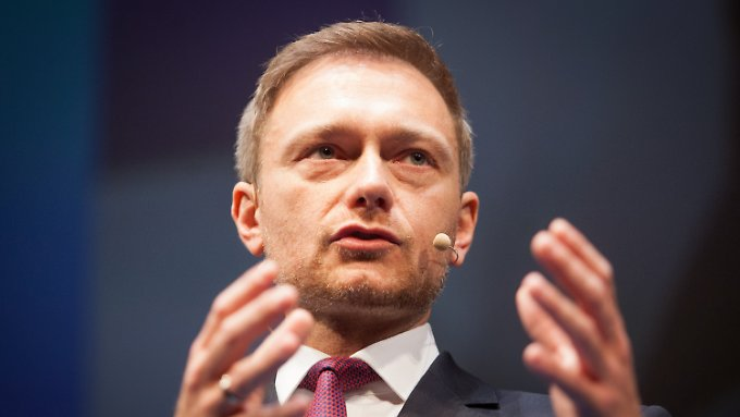 """Christian Lindner spricht von """"einer der größten Bewährungsproben unseres Landes""""."""