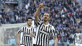Es läuft: Juves Leonardo Bonucci feiert sein Tor zum 2:0.