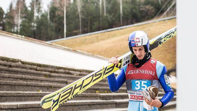 Mottet seine Skisprung-Sachen vorerst ein: Gregor Schlierenzauer.