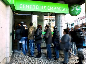 Arbeitsuchende in Amadora bei Lissabon.