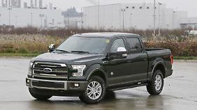 Die F-Serie von Ford stellt die meistverkauften Autos in den USA im Jahr 2015.