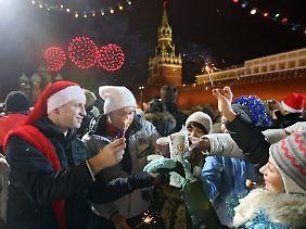 Die Russen feiern ins neue Jahr. Auf sie warten viele freie Tage.