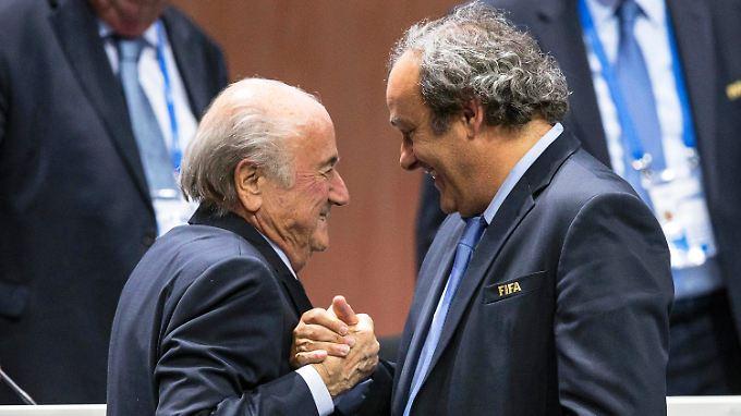 Feinde fürs Leben: Joseph Blatter und Michel Platini.