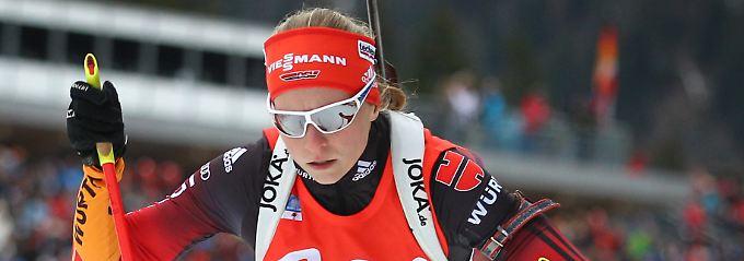 Vorneweg: Franziska Hildebrand.