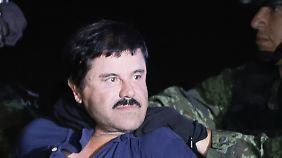 """Nach spektakulärem Ausbruch: Mexikanischer Drogenboss """"El Chapo"""" wieder gefasst"""
