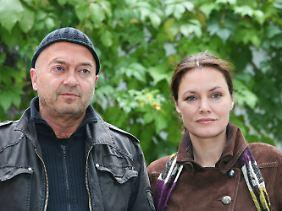 """Zusammen mit Schauspieler Florian Martens war Maranow """"Ein starkes Team""""."""