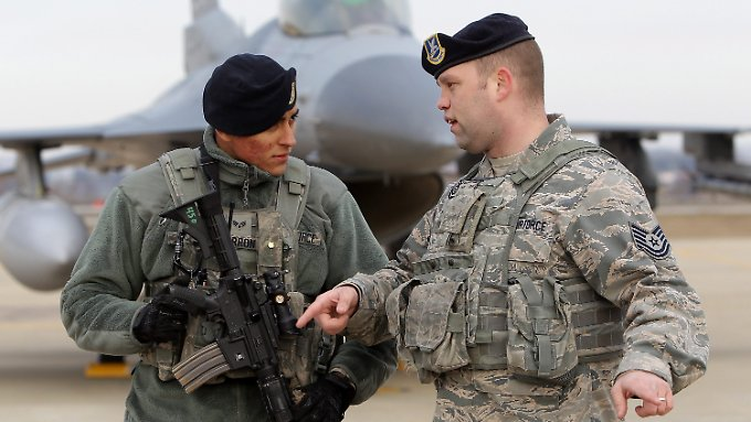 US-Soldaten bereiten sich in Südkorea auf den Ernstfall vor.