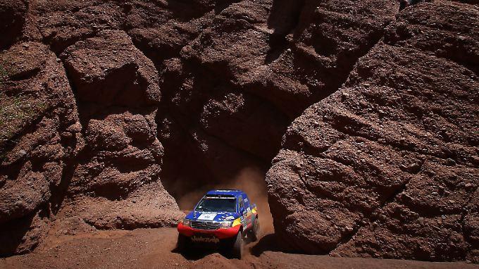 Die Kulisse bei der Rallye Dakar ist malerisch. Das Wetter ist es oftmals nicht.
