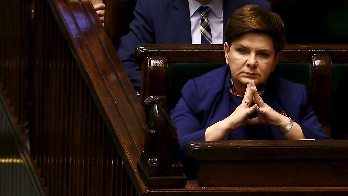 Ministerpräsidentin Beata Szydlo: Werde in Brüssel nicht nur demütig zuhören.