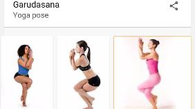 """So geht der """"Adler"""". Diese und viele andere Posen sind Teil von Googles neuen Yoga-Karten."""