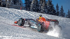 Gipfelspektakel in Kitzbühel: Formel-1-Boliden brettern über die Skipiste