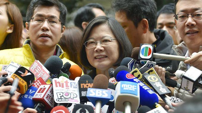 Die glückliche Siegerin: Tsai Ing-wen.