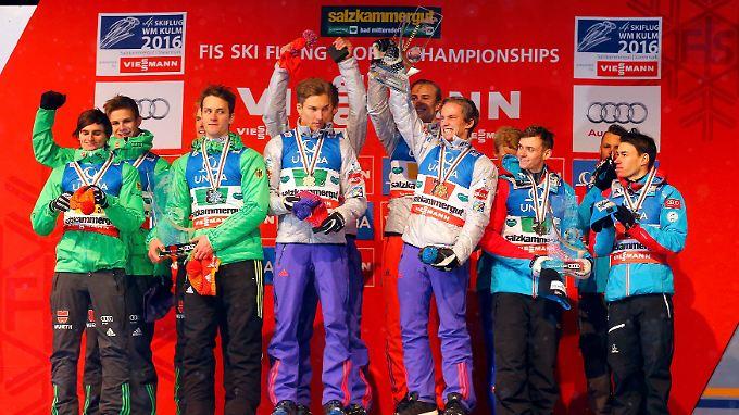 And the Vize-Winner is ... Deutschland. Hinter Norwegen und vor Österreich gab es WM-Silber im Skifliegen.