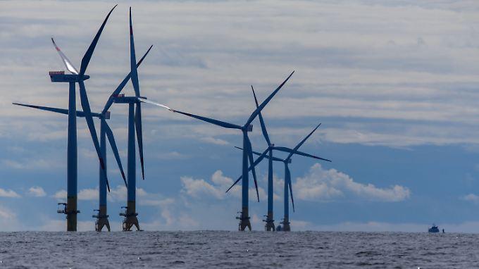 """Der Offshore-Windpark """"Baltic 2"""" in der Ostsee ging im vergangenen September in Betrieb."""